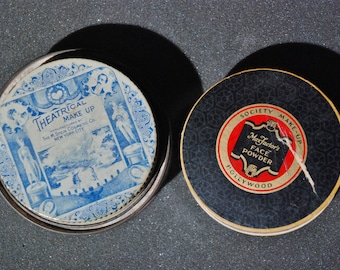 2-fer!  Vintage Makeup, Stein's Theatrical Make-up AND Max Factor RACHELLE Face Powder. Free shipping!