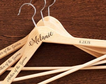 2 pcs Groom Personalized Engraved Hanger - JM8521483