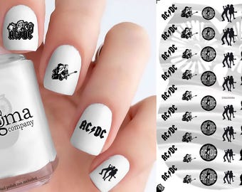 AC/DC Nail Decals (Set of 51)