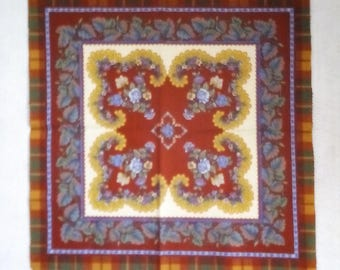 Panel  #016 Vintage panel in Burgundy with free shipping