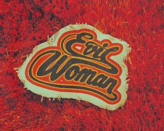 Evil Woman Club Handmade Canvas Patch