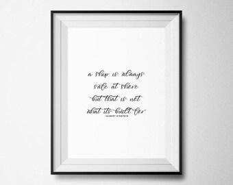 Albert Einstein Quote, Wall Art Print, Printable Wall Art, Typography Print, Typography, Quote Prints, Motivational Quote, Wall Decor, Print