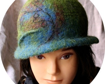 Felted wool hats, Womens winter hats, Felt hat for women, Ladies winter hat,  Women's wool hat, Unique handmade felt hats