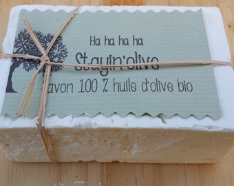 "The ""Stayin'olive"", organic 100% olive oil SOAP"