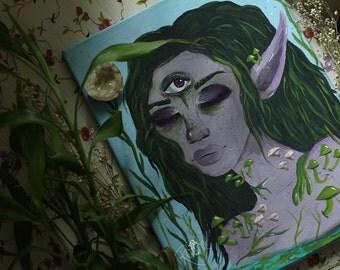Swamp Girl Print of Original Painting 8x10