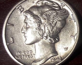 1943 d Mercury dime FSB