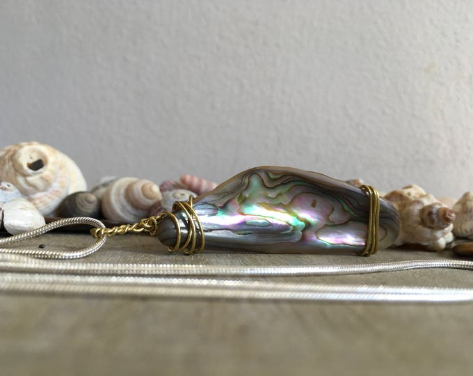 Mermaids polished Abalone shell necklace