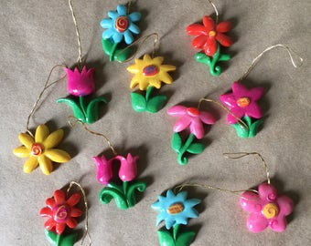 Plastic Flower Ornaments