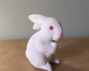 White Bunny Rabbit Vintage Easter Decor
