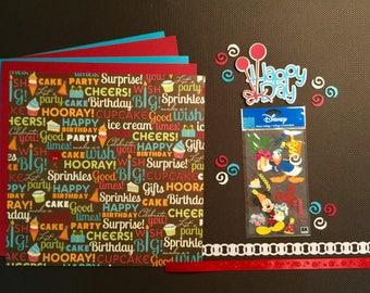 Disney Happy Birthday Scrapbooking Kit