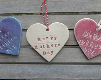 Happy Mothers Day Heart, Mothers day gift, Mothers day present, Mothers day keepsake, Heart, Hanging Heart, Mothers Day, Pink, Purple, Gift
