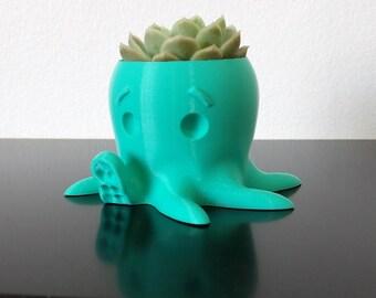 """Planter / Flower Pot Octopus. Octopus that """"Hello!"""""""