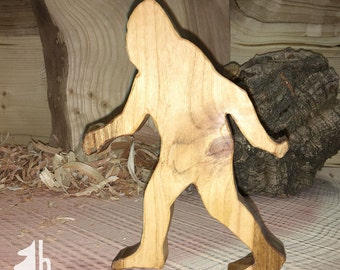 Sasquatch bottle opener from local cherry