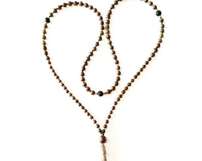 Spiritual Balance Mala Bead Necklace