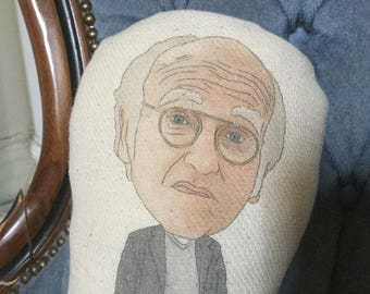 Larry David Curb Your Enthusiasm Inspired Custom Plush Doll (Handmade Stuffed Soft Plushy Ornament- Comedy, Stand Up, Seinfeld, Jerry)