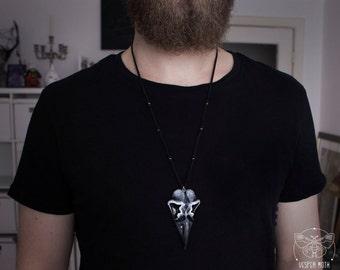 Hallbjorn Raven Skull Necklace