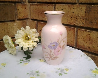 Handpainted Pretty Pink and Lilac Vase