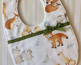 Classic Easter Bib Baby Girl - Cute Baby Shower Gift  - Cute Baby Bib