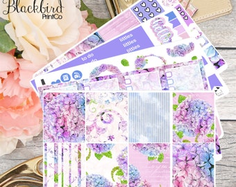 Hydrangea | Planner Sticker Kit for Erin Condren Vertical