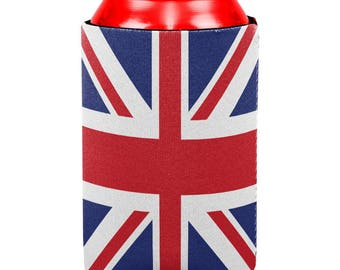British Flag Union Jack All Over Can Cooler