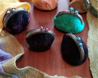 felted change purses