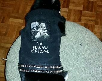 Denim Cat Vest - Morbid Angel The Declaw of Rome