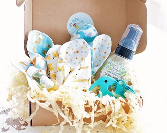 unique baby bath gift, organic baby bath box, natural baby bath gift set, baby shower gift, gifts for expectant mothers, unique gift,