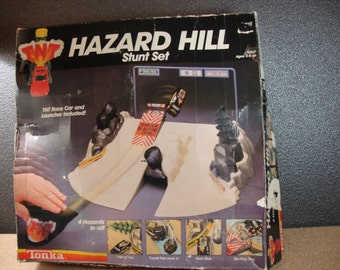 1984 Tonka Hazard Hill Stunt Set Incomplete Vintage Toy Car Launcher 6307