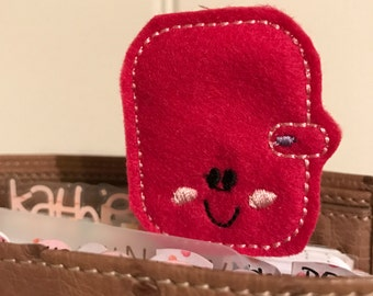 "Sweet little Feltie - Paperclip, Bookmark ""Planner"""