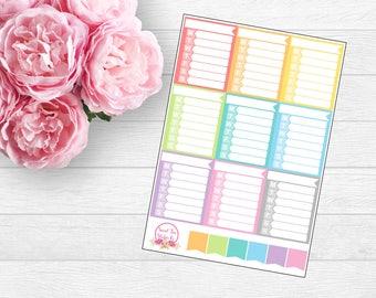 Weekly Sidebar Planner Sticker (F20)