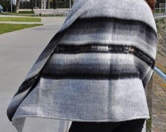 Big size wool poncho