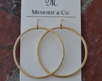 Classic Gold Hoop on 14K Gold Filled Earwires