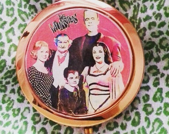 The Munsters rose gold compact mirror