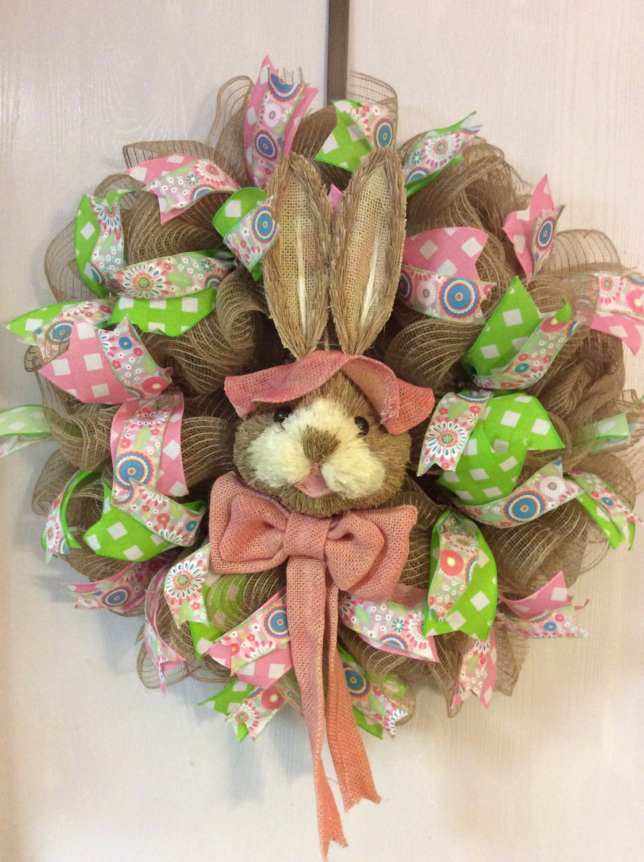 Easter Wreath Easter Burlap Wreaths Easter Bunny