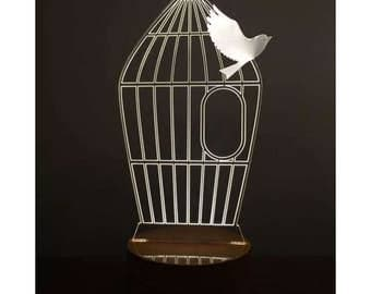 3D Cage and Freedom Lamp