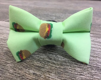 Burger Dog Bow Tie, Cat Bow Tie