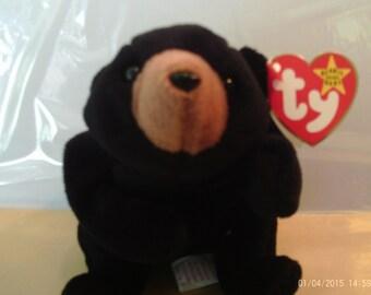 T.Y. Beanie Baby Blackie, Mis-matched dates, Deutschland, No Stamp,PVC