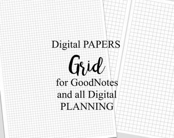 Digital Planner Pages for iPad GoodNotes Grid Papers