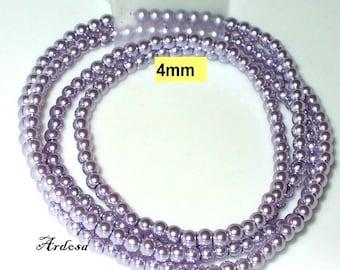 1 strand. 82cm = 228 glass beads lilac light (804.17.1)