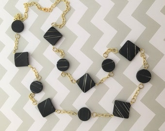 Necklace Gold and Black