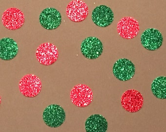 200 Red and Green Confetti Christmas Confetti Holiday Confetti Birthday Confetti Shower Glitter Confetti Green Confetti Red Confetti