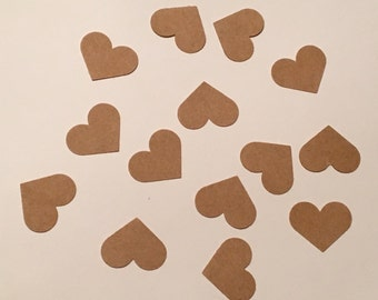 200 Heart Confetti Kraft Heart Confetti Shower Confetti Heart Confetti Birthday Confetti Rustic Confetti Rustic Shower Rustic Wedding