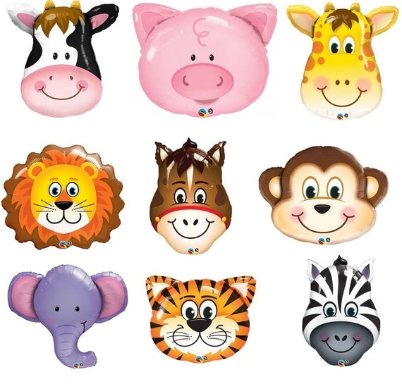 jungle Animals balloons birthday decoration photo prop first
