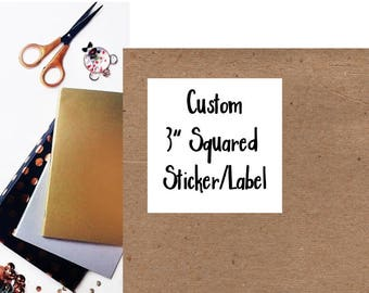 Large Custom Stickers, Custom Packaging Stickers, Custom Large Labels, Box Stickers, Large Stickers, 3x3 Stickers, Business Labels