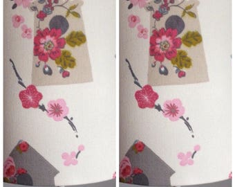 lampshades 2 x small handmade lampshades in a clarke and clarke birds and florals fabric 20cm