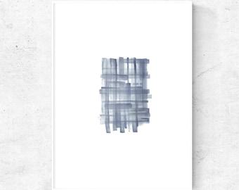 Blue grey minimalist printable wall art, Grey Watercolor art printable, 8x10, 5x7 art print, 4x6 print, 18x24 print, modern abstract art