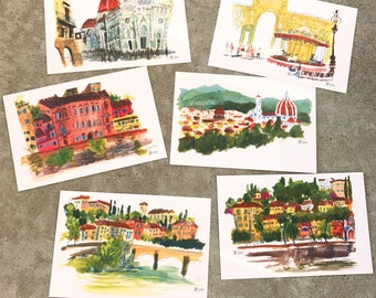 Bundle of 6 Postcards | Florence, Italy