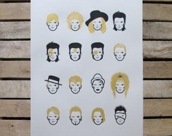 David Bowie Screen Print: James Fenton 'Changes'