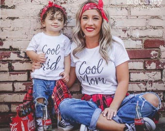 Cool Mom - Mommy and Me Shirts - Mommy and Me Outfits - Mom and Son Shirts -Mom and Daughter Shirts - Family Shirts-Mothers Day Gift