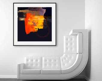 Abstract Art by Michael Hunter. Red Orange Yellow Abstract Print, art gallery, modern home decor, abstract expressionism